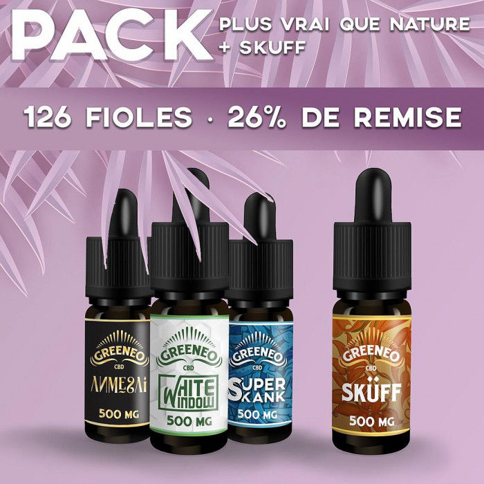 Pack Plus Vrai Que Nature 126 fioles Packs